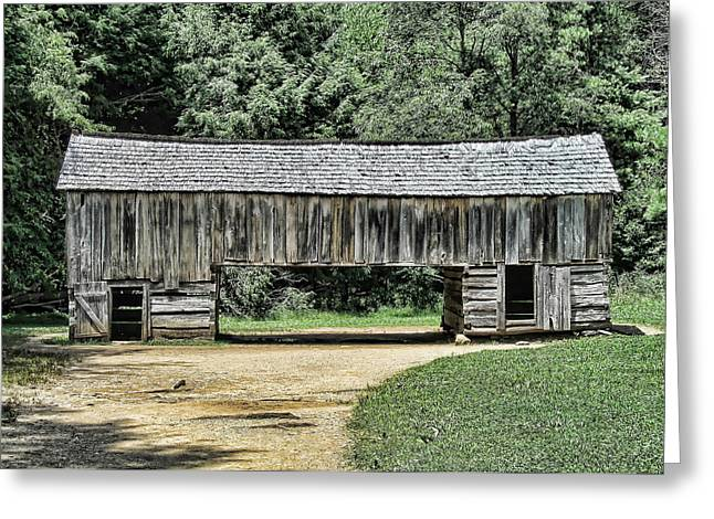Tennessee Barn Digital Art Greeting Cards - Cades Cove Barn Greeting Card by Victor Montgomery