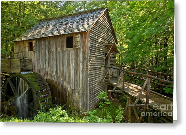Grist Mill Greeting Cards - Cades Cove Grist Mill Closeup Greeting Card by Adam Jewell