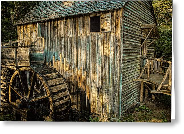 Dave Bosse Greeting Cards - Cades Cove Mill Greeting Card by Dave Bosse