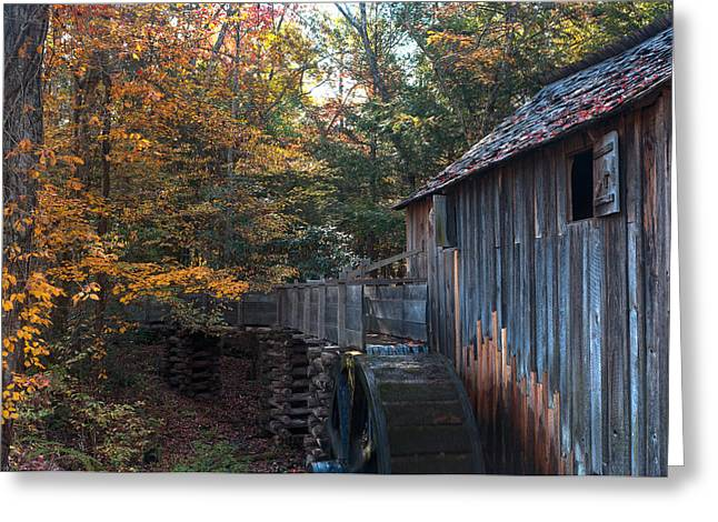 Smokey Mountains Greeting Cards - Cades Cove Mill Greeting Card by Steve Gadomski