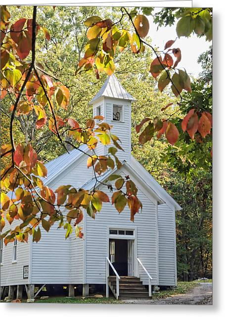 Francis Greeting Cards - Cades Cove Missionary Baptist Church Greeting Card by Kenny Francis