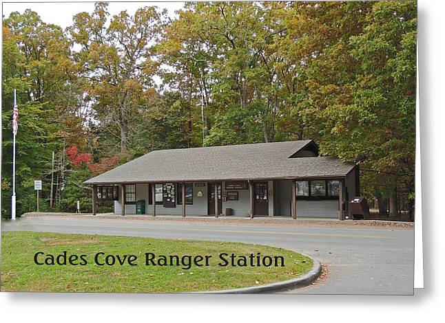 Tennessee Historic Site Greeting Cards - Cades Cove Ranger Station Greeting Card by Marian Bell