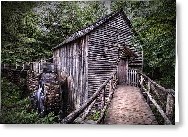 Southern Appalachians Greeting Cards - Cades Cove Rustic Cable Mill  Greeting Card by Thomas Schoeller