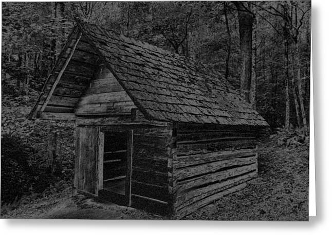Cades Cove Shed Greeting Card by Gary Rieks