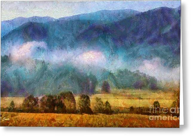 Smokey Mountains Paintings Greeting Cards - Cades Cove Tennessee  Greeting Card by Elizabeth Coats