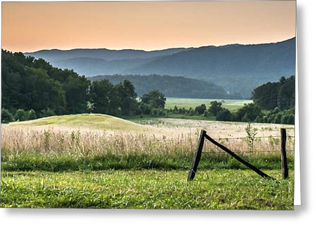 Ladnscape Greeting Cards - Cades Cove Vista Greeting Card by Tony Hood