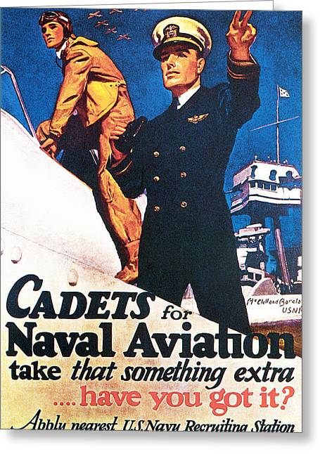 Dash Greeting Cards - Cadets For Naval Aviation Take That Greeting Card by McClelland Barclay