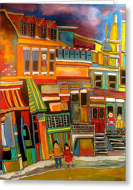 Old Jewish Area Greeting Cards - Cadieux Street number 2 Greeting Card by Michael Litvack
