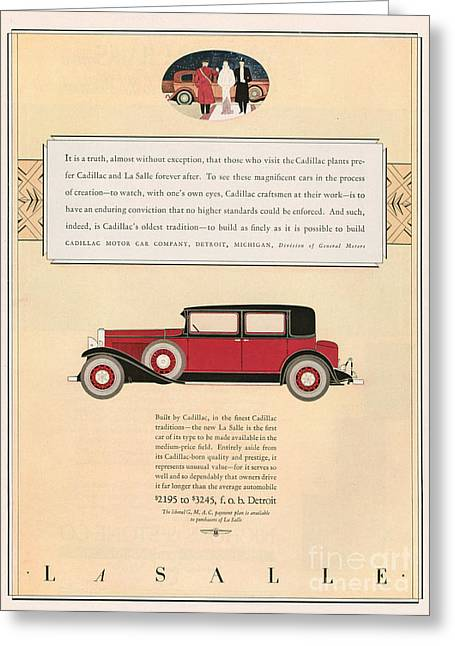 American Automobiles Greeting Cards - Cadillac 1931 1930s Usa Cc Cars Greeting Card by The Advertising Archives