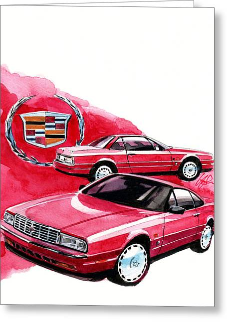 Gm Greeting Cards - Cadillac Allante Greeting Card by Yoshiharu Miyakawa