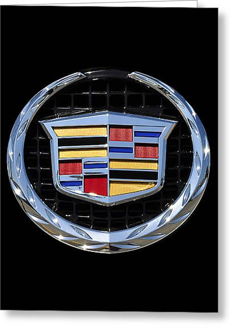 Logos Greeting Cards - Cadillac Chrome Greeting Card by Al Powell Photography USA