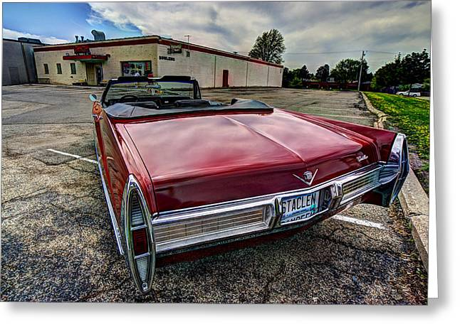 Minnesota Licence Plates Greeting Cards - Cadillac Convertible Greeting Card by Amanda Stadther