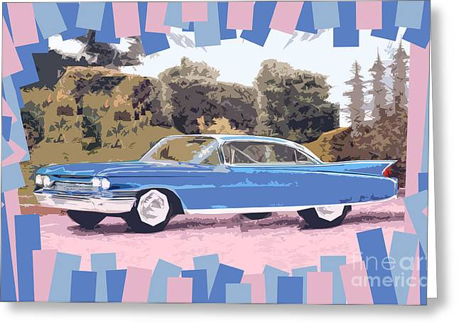 1960 Greeting Cards - Cadillac Coupe De Ville Greeting Card by Bruce Stanfield