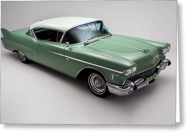 Caddy Greeting Cards - Cadillac DeVille 1958 Greeting Card by Gianfranco Weiss