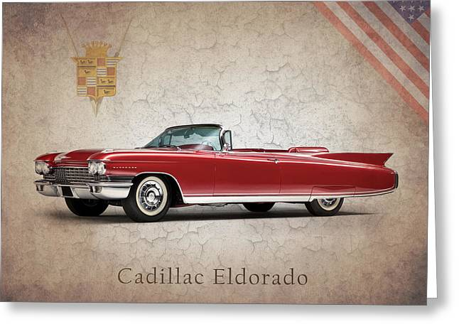 Cadillac Greeting Cards - Cadillac Eldorado 1960 Greeting Card by Mark Rogan