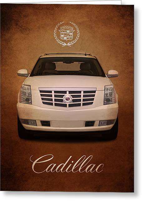 Cadillac Greeting Cards - Cadillac Escalade Greeting Card by Mark Rogan