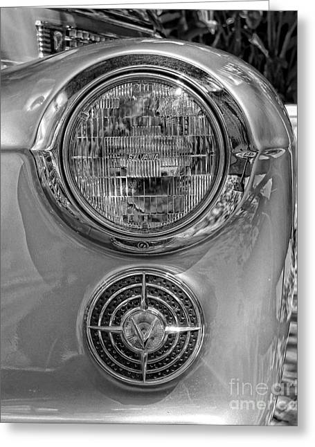 American Automobiles Greeting Cards - Cadillac Headlight Greeting Card by Lee Dos Santos