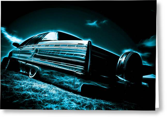 Motography Greeting Cards - Cadillac Lowrider Greeting Card by motography aka Phil Clark