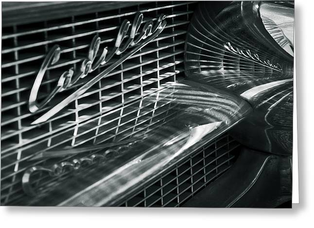 Monochrome Greeting Cards - Cadillac Greeting Card by Nadya Ost