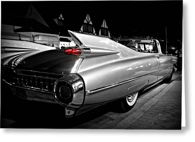 1950-1959 Greeting Cards - Cadillac Noir Greeting Card by Steve Natale