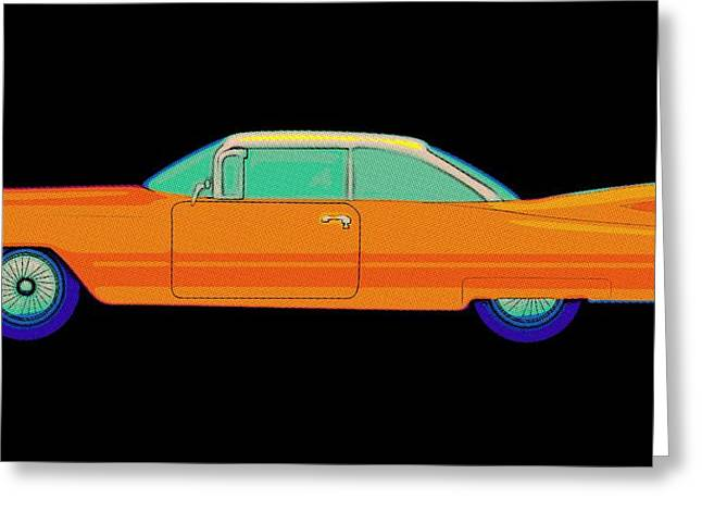 Color Wheel Art Greeting Cards - Cadillac Oldtimer Vintage Greeting Card by Florian Rodarte