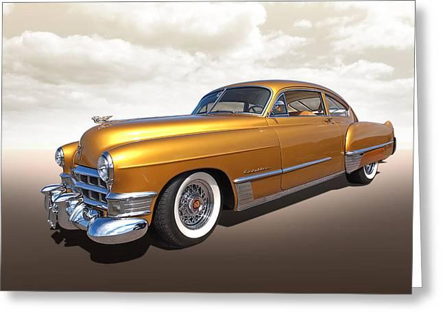 Custom Grill Greeting Cards - Cadillac Sedanette 1949 Greeting Card by Gill Billington