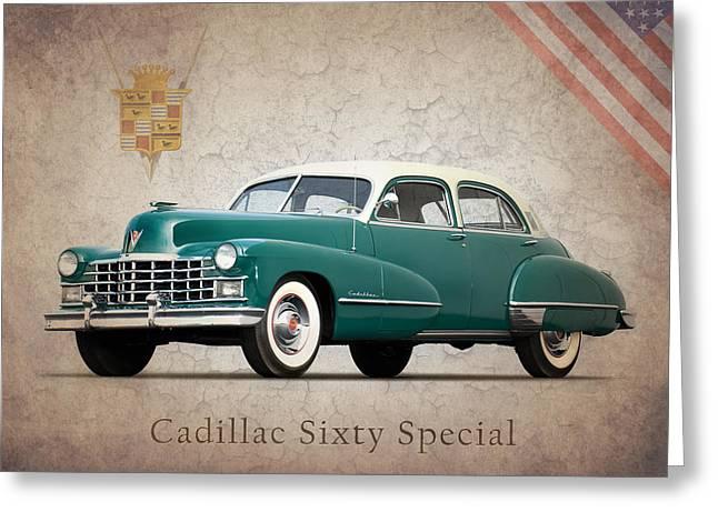 Cadillac Greeting Cards - Cadillac Sixty Special 1949 Greeting Card by Mark Rogan