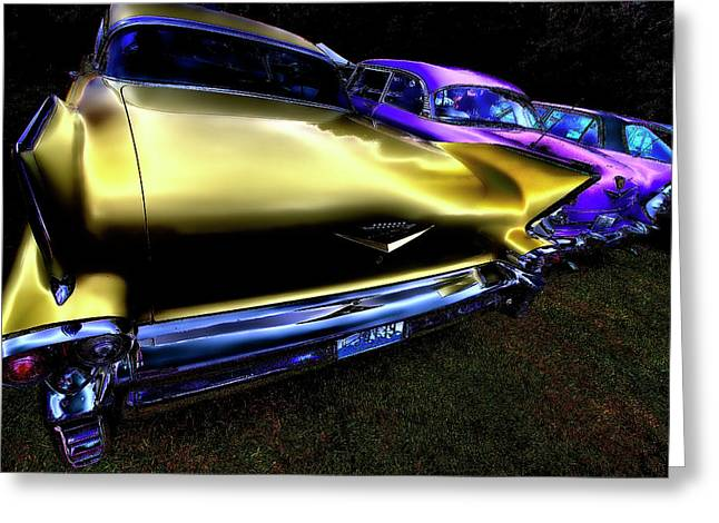 Car Mascot Digital Art Greeting Cards - Cadillacs Greeting Card by David Patterson