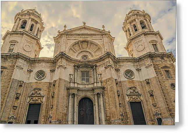 Historical Images Greeting Cards - Cadiz Cathedral Greeting Card by Maria Coulson