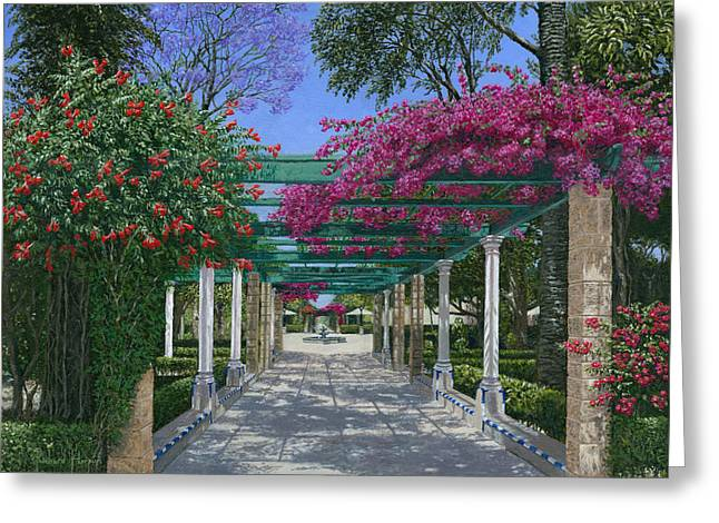 Andalucia Greeting Cards - Cadiz Garden Greeting Card by Richard Harpum