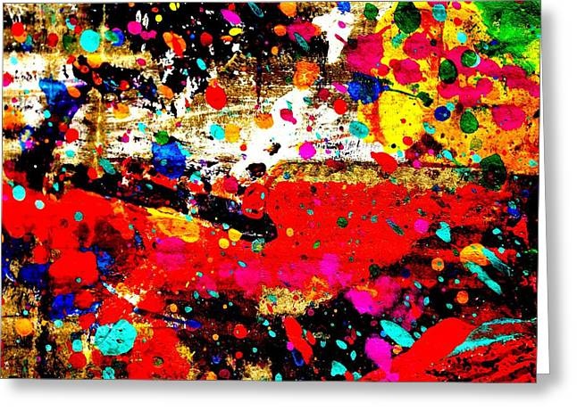 Fine Art Prints Framed Prints Greeting Cards - Cadmium Abstract Greeting Card by John  Nolan