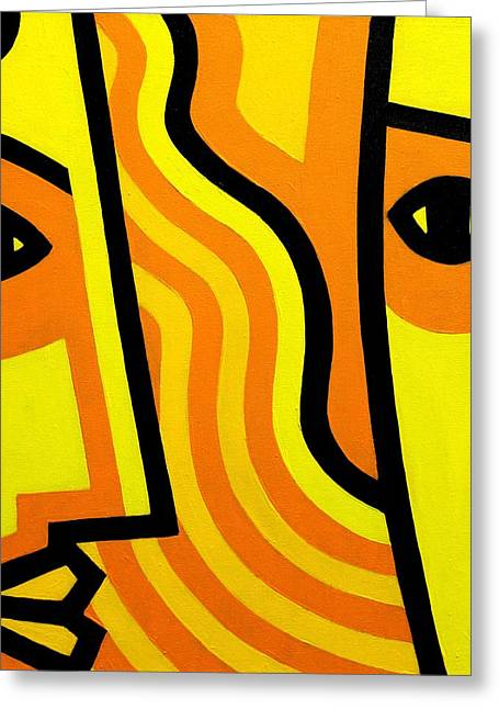 Contemporary Lovers Greeting Cards - Cadmium Lovers  Greeting Card by John  Nolan