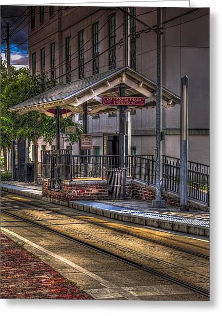 7th Greeting Cards - Cadrecha Plaza Station Greeting Card by Marvin Spates