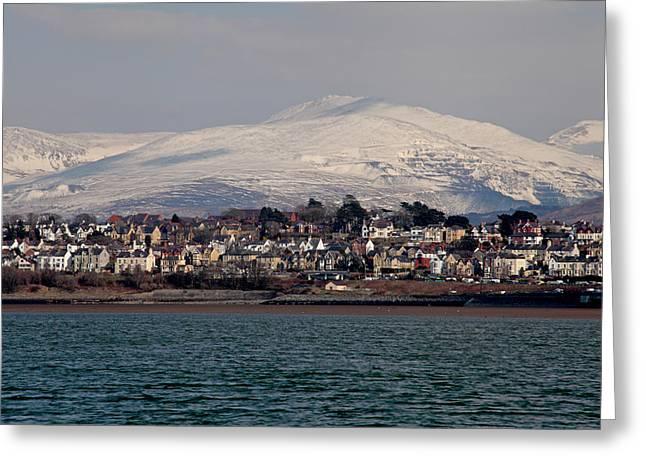Caernarfon From The Menai Strait Greeting Card by Ollie Taylor