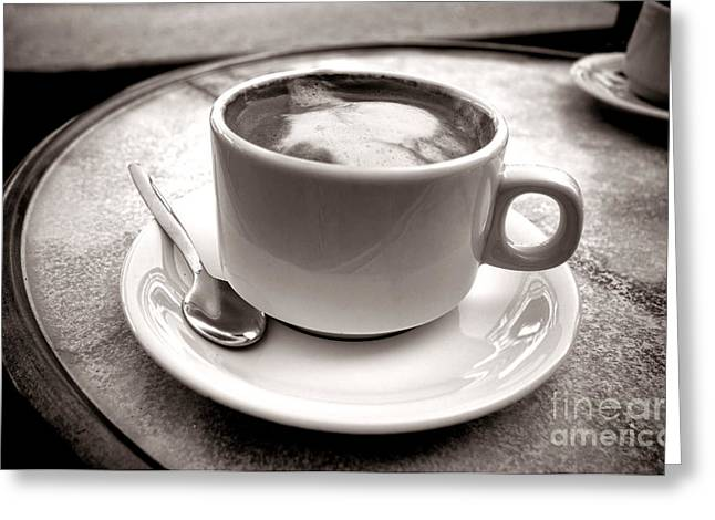 Steamy Greeting Cards - Cafe au Lait Greeting Card by Olivier Le Queinec