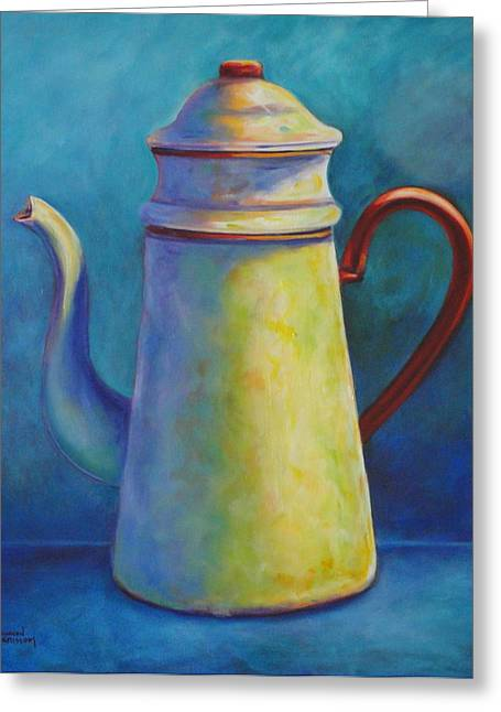 Cafe Au Lait Greeting Card by Shannon Grissom
