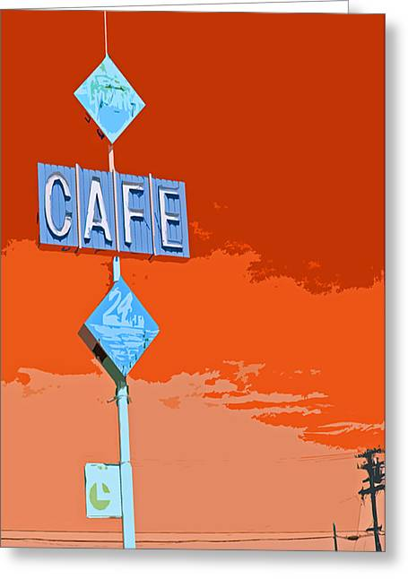 Cafe Greeting Card by Charlette Miller
