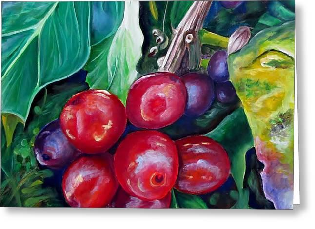 Cafe Costa Rica Greeting Card by Carol Allen Anfinsen