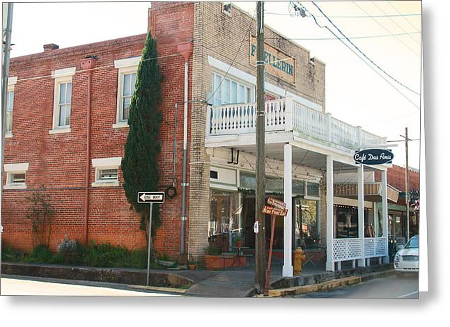 Cajun Cafe Greeting Cards - Cafe Des Amis Greeting Card by Ronald Olivier