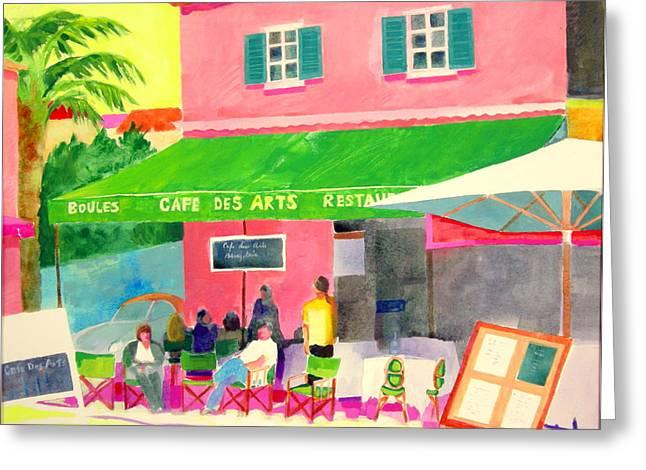Al Fresco Greeting Cards - Cafe des Arts Greeting Card by Rhonda Brooks