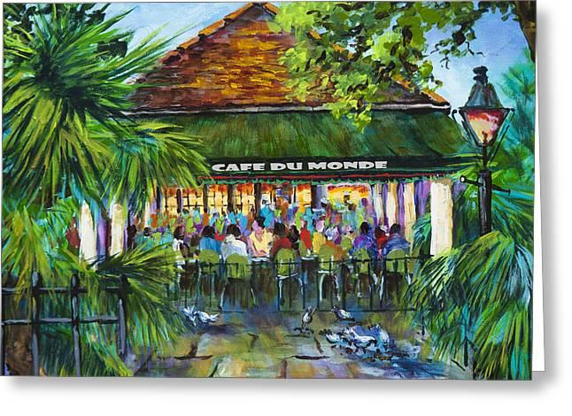 Cafe Du Monde Morning Greeting Card by Dianne Parks