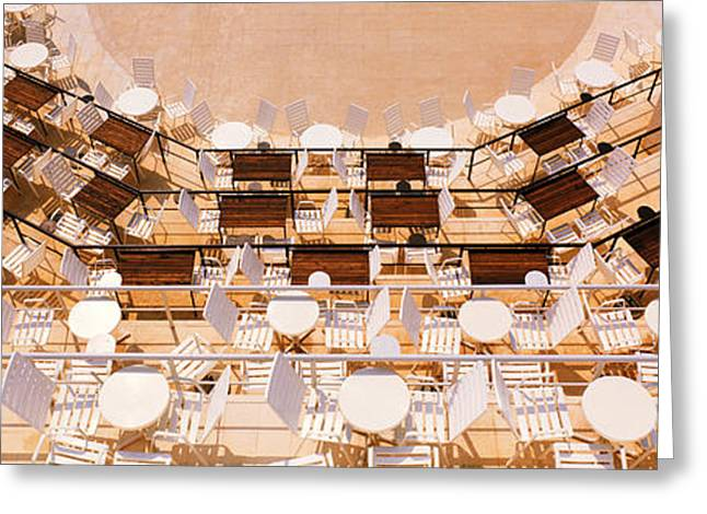Al Fresco Greeting Cards - Cafe Dubrovnik Croatia Greeting Card by Panoramic Images