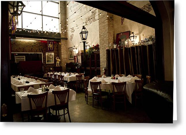 Italian Restaurant Digital Greeting Cards - Cafe In Nola Greeting Card by Alicia Morales