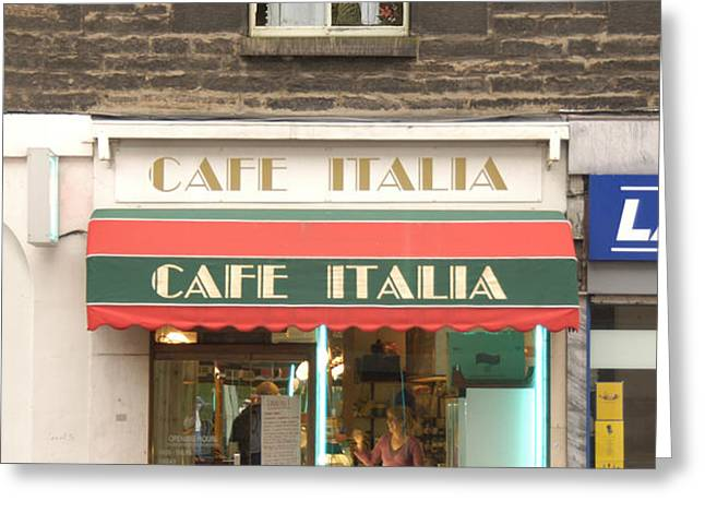 Cafe Italia Greeting Card by Mike McGlothlen
