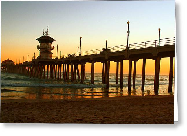 Surf City Greeting Cards - Cafe Latte Greeting Card by Ann Michelle Smith