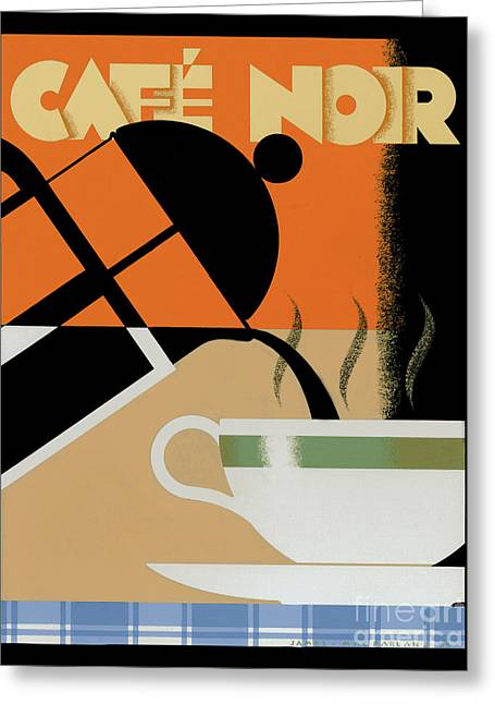 Pouring Digital Art Greeting Cards - Cafe noir Greeting Card by Brian James