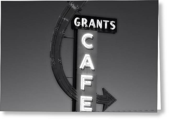 Beckon Greeting Cards - Cafe on Route 66 Greeting Card by Mountain Dreams