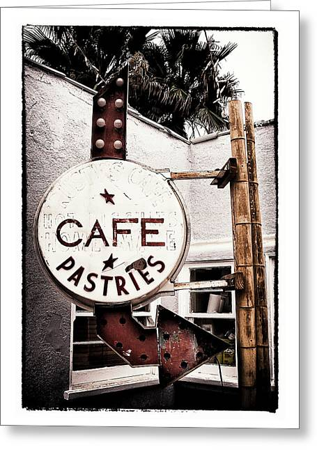 Pch Digital Art Greeting Cards - Cafe Pastries Greeting Card by Ron Regalado