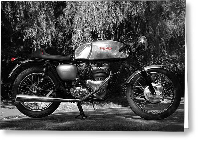 Cafe Greeting Cards - Cafe Racer Greeting Card by Mark Rogan