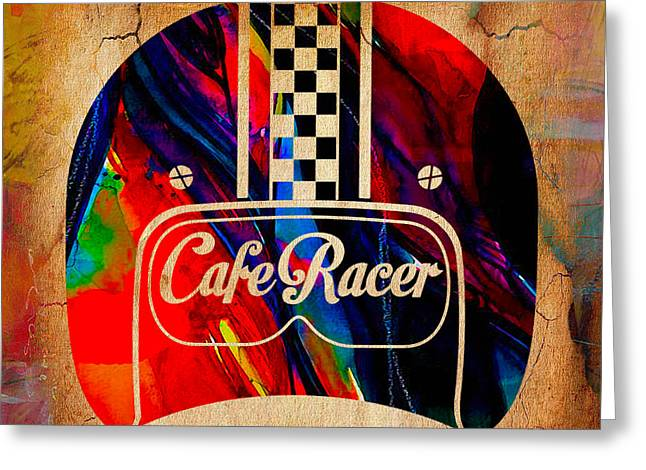 Motorcycle Greeting Cards - Cafe Racer Motorcycles Greeting Card by Marvin Blaine